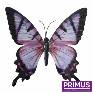 Metal Butterfly in Pink and Black