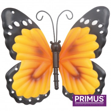 Small Metal Butterfly Orange