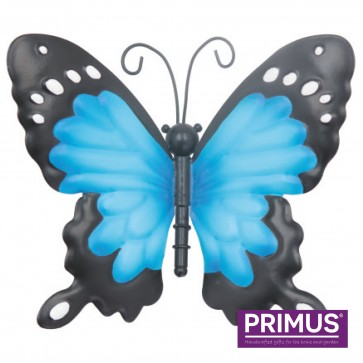 Small Metal Butterfly Blue