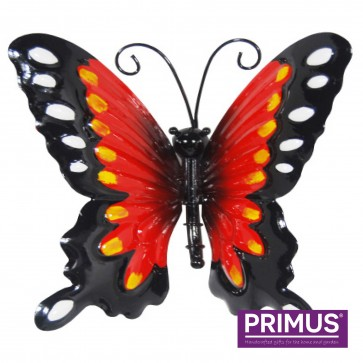 Small Metal Butterfly Red