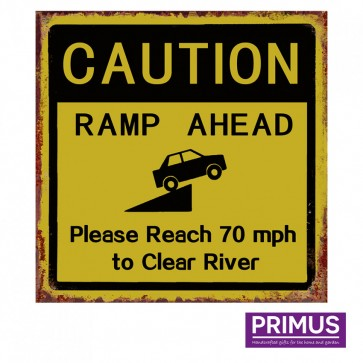Caution Ramp Ahead Road Sign Plaque - 35 x 35cm