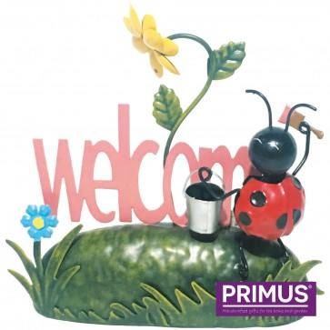 Miniature Metal Life Ladybird Welcome