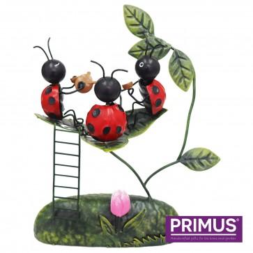 Miniature Metal Life Ladybird Welcome Tea Party