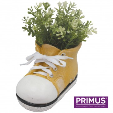 Shoe Planter Small (Frost Proof Polyresin) Yellow