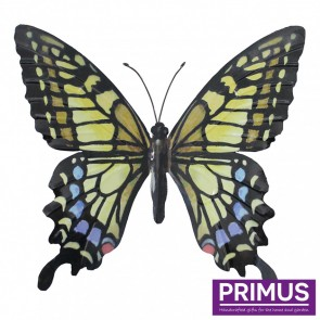 Metal Butterfly in Yellow, Blue and Black