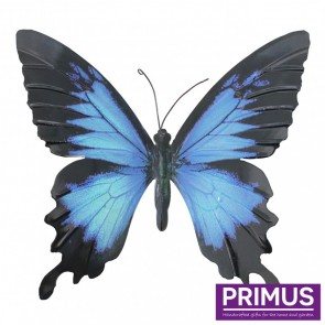 Metal Butterfly in Blue and Black