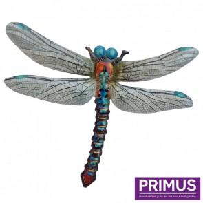 Metal Dragonfly Wall Art - Blue