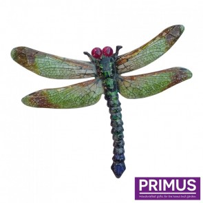 Metal Dragonfly Wall Art - Green
