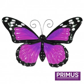 Large Metal Butterfly with Flapping Wings Purple
