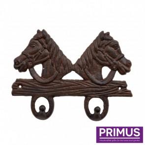 2 Horse Coat Hook