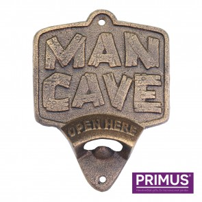 Cast Iron Wall Mounted Bottle Opener 'Man Cave'