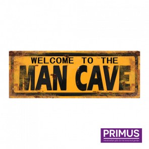 Welcome To The Man Cave Plaque - 36 x 13cm