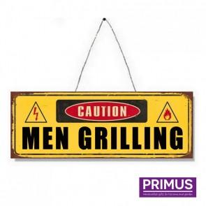 Men Grilling Plaque - 36 x 13cm