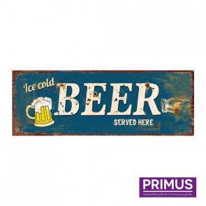 Beer Served Here Plaque - 36 x 13cm