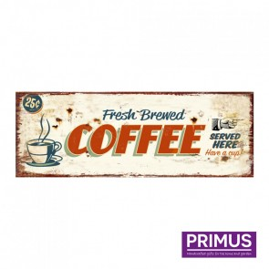 Coffee Served Here Plaque - 36 x 13cm