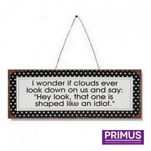 Cloud Joke Plaque - 36 x 13cm
