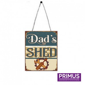 Dad's Shed Plaque - 25 x 20cm