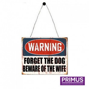 Warning Beware Of The Wife Plaque - 25 x 20cm