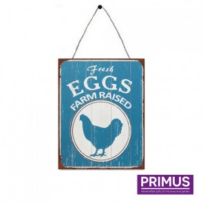 Fresh Eggs Plaque - 25 x 33cm