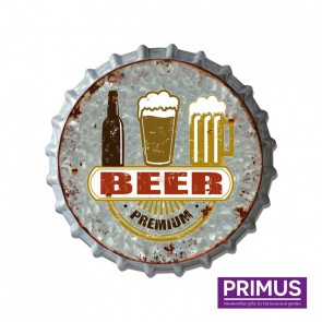 Premium Beer Metal Bottle Cap - 33cm