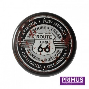 Route 66 Metal Circle Plaque - 34cm