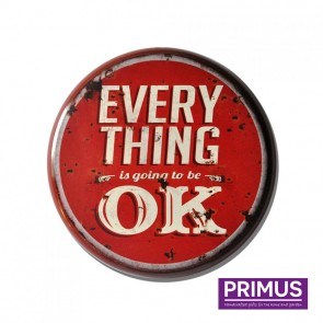 Everything is OK Metal Circle Plaque - 34cm