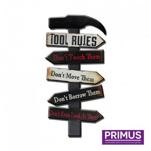 Tool Rules Plaque - 25 x 50cm