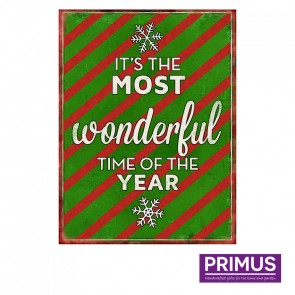 The Most Wonderful Time Plaque - 25 x 33cm