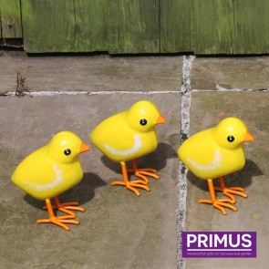 Small Metal Chicks - Set of 3