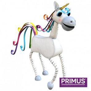 Small Metal Unicorn - White.