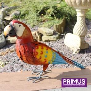 Metal Red Parrot