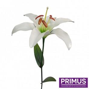 Giant Metal Lily Garden Stake - White