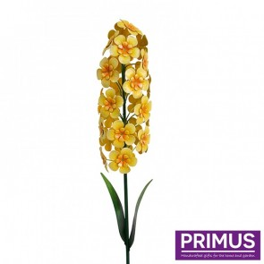 Giant Metal Hyacinth Garden Stake - Yellow