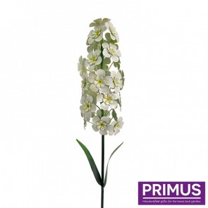 Giant Metal Hyacinth Garden Stake - White