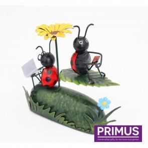 Miniature Metal Life Ladybird with Flower Umbrella