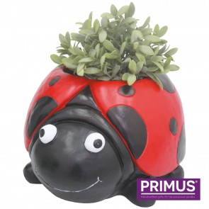 Ladybird Planter (Frost Proof Polyresin) Red