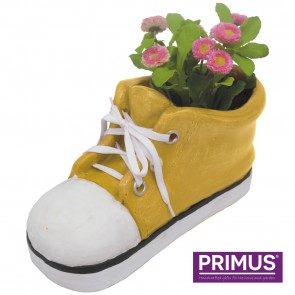 Shoe Planter Large (Frost Proof Polyresin) Yellow