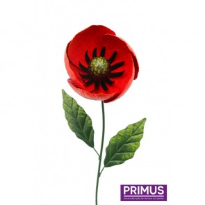 Medium Metal Poppy