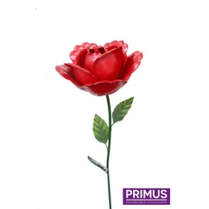 Medium Metal Rose Red