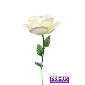 Medium Metal Rose White