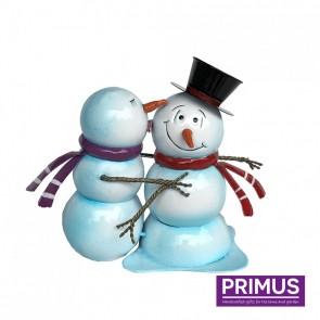 Miniature Metal Snowman Kiss