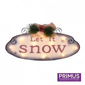 Let It Snow LED Sign