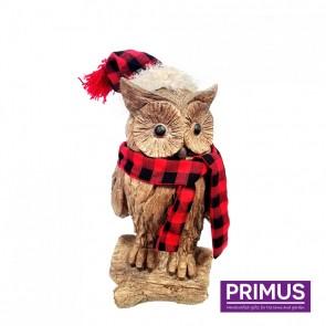 Wood Effect Xmas Owl