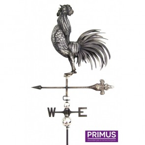 Cock Crowning Weathervane with Garden Stake